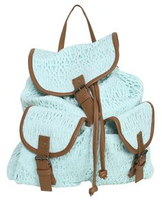 Wet Seal Crochet Leatherette Trim Backpack   http://www.wetseal.com/catalog/product.jsp?categoryId=1621=64891=MINT