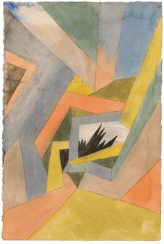 Paul Klee, Die Idee der Tannen, 1917. (The Idea of Firs.) Watercolor and…