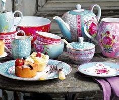 Chá da tarde colorido