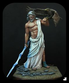 Zeus, god of gods mythical & otherworldly beings greek mytho Greek Gods And Goddesses, Greek And Roman Mythology, Statues, Tattoo Deus, Archetypes, Deities, Fantasy Art, Sculpting, Painting