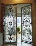 Art deco glass doors