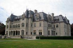 Ochre Court Mansion, which is now the centerpiece of Salve Regina University, in Newport, Rhode Island.
