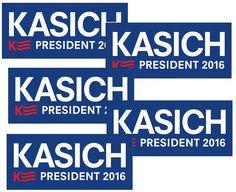 John Kasich For President 2016 Camapign Buttons Presidential History, 2016 Presidential Election, All Presidents, John Kasich, Political Campaign, Bumper Stickers, Historical Photos, Politics, Buttons