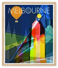 wall art australia prints birth prints, greeting cards posters Mara Girling Nicholas Girling: Melbourne - The limited edition art print