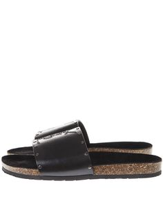 bde7d772ed3 Saint Laurent Men S Jimmy 20 Ysl Slide Sandals In Black