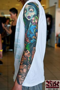 tim burton sleeve!