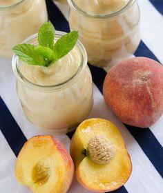 Κρεμα ροδακινο Sweets Recipes, Healthy Recipes, Desserts, Healthy Food, Cantaloupe, Mousse, Ice Cream, Homemade, Fruit