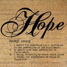 Definition HOPE Text Typography Words Digital Image Download Sheet Transfer To Pillows Totes Tea Towels Burlap No.2258 on Etsy, $1.00