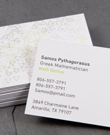 Business Card design 'Abstract Lines Horizontal'