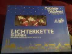 Nürnberger Festschmuck!Lichterkette (Weihnachtsmänner)!10 Birnen!NEU!