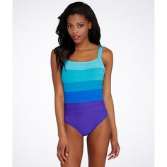 Miraclesuit Spectra Band-It Swimsuit ($150) ❤ liked on Polyvore featuring swimwear, one-piece swimsuits, one piece, underwire, women, one piece swim suit, underwire swim bra, one-piece swimwear, underwire one piece swimsuit and swim wear