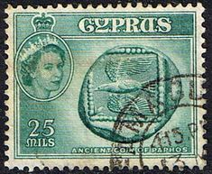 Stamps Cyprus 1955 New Currency SG 179 Fine Used Scott 174  Other Cyprus Stamps HERE