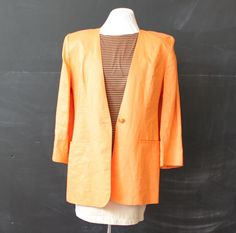 peach linen jacket s m by cheapopulance on Etsy, $35.00