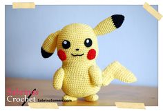I had to crochet the most famous Pokemon of them all: Pikachu! Also think it\\\'s one of the cutest Pokemon. This amigurumi pattern is FREE. Pokemon Crochet Pattern, Pikachu Crochet, Kawaii Crochet, Crochet Patterns Amigurumi, Cute Crochet, Crochet Crafts, Crochet Dolls, Crochet Projects, Stuffed Animal Patterns