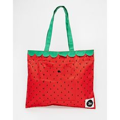THEWHITEPEPPER Strawberry Shopper (945 PHP) ❤ liked on Polyvore