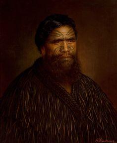 Whitiora Te Kumete - Lindauer Polynesian People, Polynesian Art, Polynesian Culture, Maori Face Tattoo, Ta Moko Tattoo, Maori Tattoos, Auckland Art Gallery, Maori People, Popular Paintings