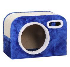 Scratching Cat Box Furniture in Ocean Blue
