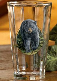 Black Bear 16 Oz. Beverage Glass Set