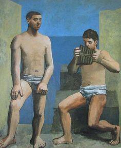 Die Panflöte PABLO PICASSO Kunstdruck Reproduktion Surrealismus