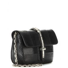 mytheresa.com - Pier leather shoulder bag with snakeskin - Shoulder bags - Bags - Luxury Fashion for Women / Designer clothing, shoes, bags IM