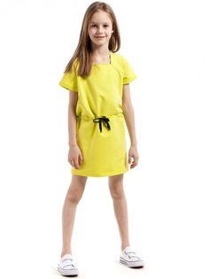82e7eed822a3 Rochie de copii cu mânecă scurtă KIDIN - galben. BFashion Romania · Kids  Fashion ...