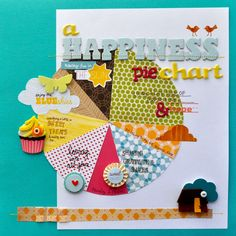 Use this LO by Amy Tangerine as inspiration to create you own 'pie chart' layout - it can be about any subject! #scrapbook