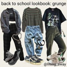 Indie Outfits, Teen Fashion Outfits, Cute Casual Outfits, Fashion Belts, Men Fashion, Fashion Brands, Grunge Fashion, Fashion Fashion, Grunge Winter Outfits