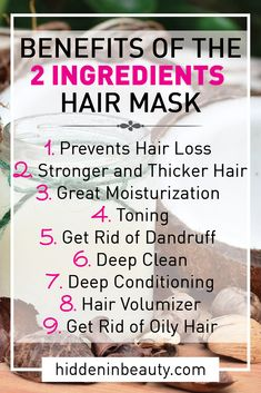 The 2 Ingredients Hair Mask That You Need To Make - Hidden in Beauty