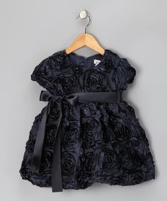 Take a look at this Navy Rosette Dress - Toddler & Girls by Ruffles & Rosettes: Girls' Apparel on #zulily today!