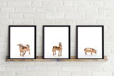 Modern Nursery Print Gold Animal Print Photographic by ModMenage