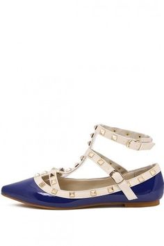 http://www.bonanza.com/listings/Free-Shipping-Blue-Faux-Leather-Studded-Ankle-Strappy-Flats-w/245332287