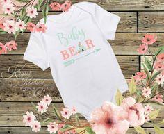 Baby Bear Baby Shirt Bohemian Baby Newborn by ArtistasBoutique