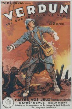 Affiche du film d'Emile Buhot Verdun tel que le Poilu l'a vécu (1927)