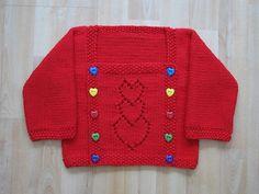 Kırmızı örgü çocuk kazak