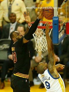 LeBron James to Andre Iguodala