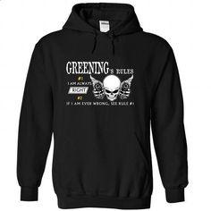 GREENING - Rule8 GREENINGs Rules - #tshirt moda #cream sweater. GET YOURS => https://www.sunfrog.com/Automotive/GREENING--Rule8-GREENINGs-Rules-fparnlikyr-Black-51773763-Hoodie.html?68278