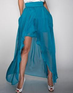 High-Low Skirt - Blue High Low Skirt, Tie Dye Skirt, Diana, Elegant, Chic, Skirts, Blue, Beautiful, Design