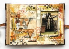 Art journal by Anna Dabrowska on Prima Blog, follow link for video too!