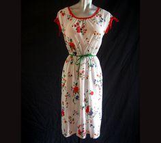 70s Vintage  Dress Jerell of Texas Sheer Floral 38 Bust by LilBlackDressVintage on Etsy