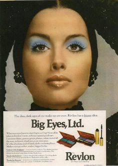 Blue eye shadow!  I never could pull it off.