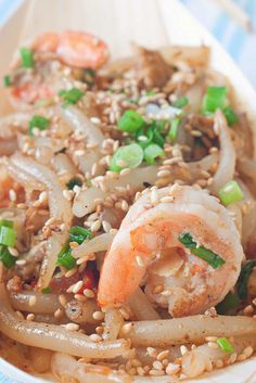 XO Sauce Stir Fried Loh Shu Fun / Mee Tai Mak