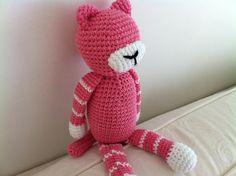les doudous sans visage: mimya le chat  version rose