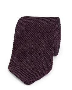 Classic Knit Tie - Burgundy