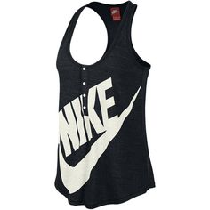 Nike Gym Vintage Women's Tank Top ($20) ❤ liked on Polyvore featuring tops, shirts, sports, tank tops and nike