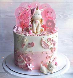 Unicorn Cake Design, Easy Unicorn Cake, Unicorn Cake Topper, Creative Birthday Cakes, Special Birthday Cakes, Cute Birthday Cakes, Little Girl Cakes, Isomalt, Oreo