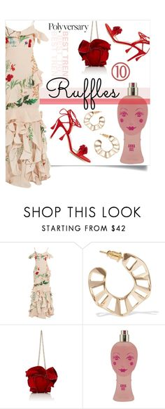 """""""Celebrate Our 10th Polyversary!"""" by collagette ❤ liked on Polyvore featuring Johanna Ortiz, Arme De L'Amour, Nina Ricci, Anna Sui, Gianvito Rossi, polyversary and contestentry"""