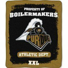 Purdue Boilermakers Micro Raschel Throw Blanket Northwest,
