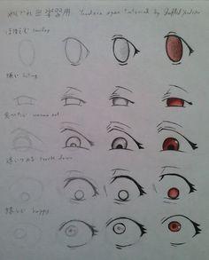 Yandere Eyes Tutorial by ShuffledYandere.deviantart.com on @deviantART