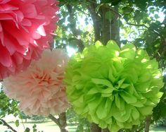 I love poms. I had a bunch of them hanging from the ceiling in my summer school classroom.