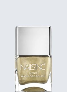 Nails Inc Knightsbridge Gardens H2GO water based nail polish. High shine and fast drying, this metallic beauty can simply be washed off and reapplied if you accidentally chip it